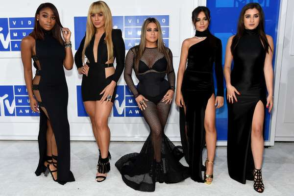 NEW YORK, NY - AUGUST 28: (L-R) Normandi Kordei, Dinah Jane Hansen, Ally Brooke, Camila Cabello and Lauren Jauregui of Fifth Harmony attend the 2016 MTV Video Music Awards at Madison Square Garden on August 28, 2016 in New York City.  (Photo by Jamie McCarthy/Getty Images)