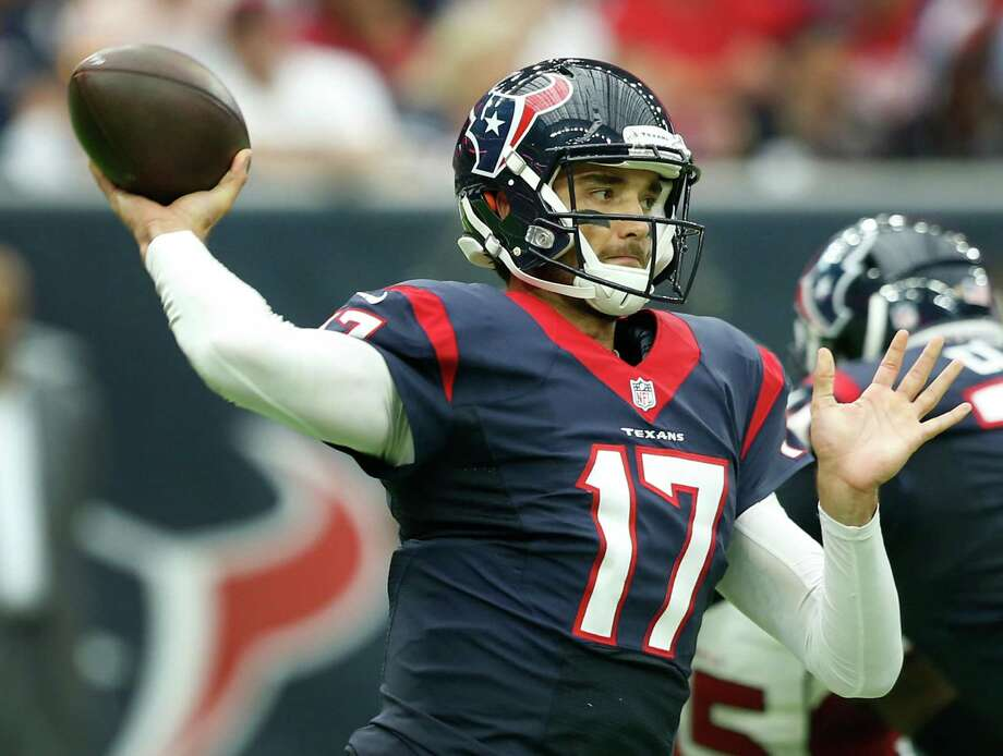 Quarterback (3)In: 1. Brock Osweiler 2. Tom Savage 3. Brandon WeedenThe improvement of Savage, especially his decisiveness and ability to improvise, dictated him overtaking Weeden as the primary backup to Osweiler. The Texans appear committed to carrying three quarterbacks, given all of the calamity they experienced with injuries last season.On the bubble: None Photo: Brett Coomer, Houston Chronicle / © 2016 Houston Chronicle