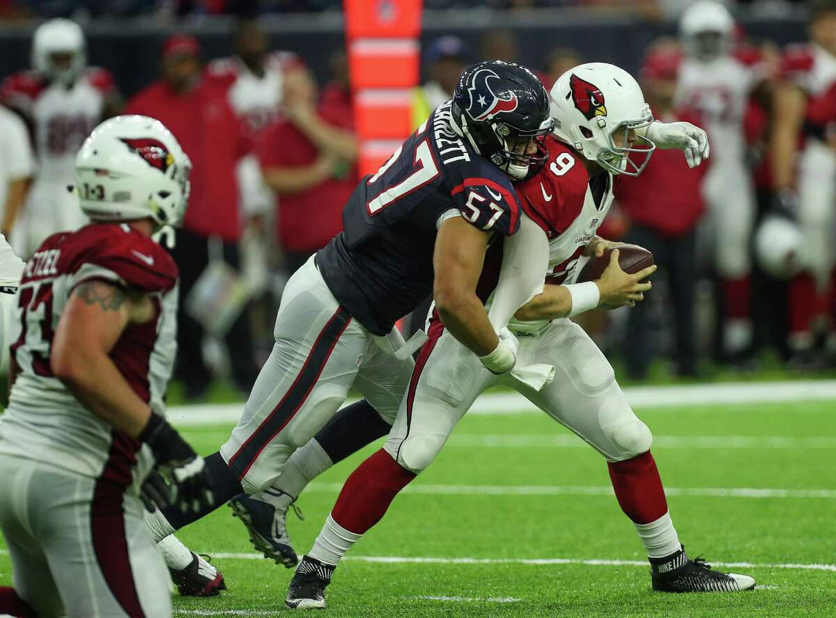 The undrafted rookie from Stanford has improved every game after playing defensive end in college. He terrorized Arizona's quarterbacks and running backs in the victory over the Cardinals on Sunday. He finished with two sacks and came close to four. At 6-4, 260, he has the size, work ethic and attitude defensive coordinator Romeo Crennel likes in his outside linebackers. He's got a good chance to make the team.