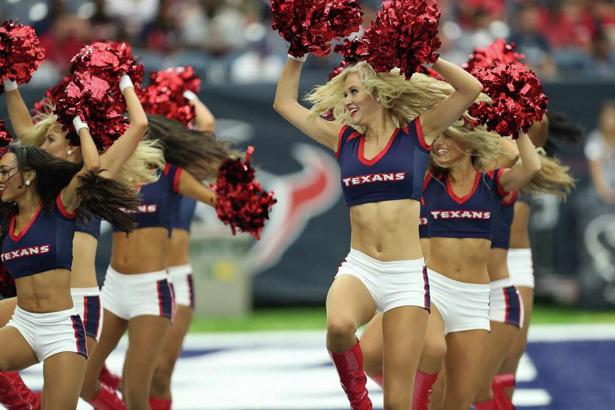 Texans Cheerleaders perform during the second quarter off an NFL pre-season football game at NRG Stadium on Sunday, Aug. 28, 2016, in Houston.