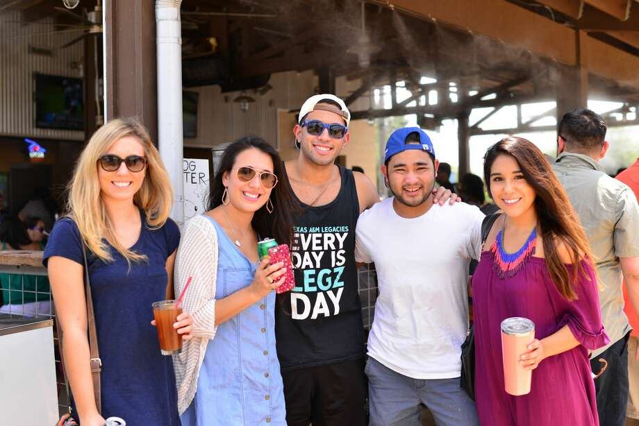 Thirsty and hungry locals hit up food truck park The Block on Sunday afternoon, Aug. 28, 2016, for Michelada Madness. Photo: By Kody Melton, For MySA