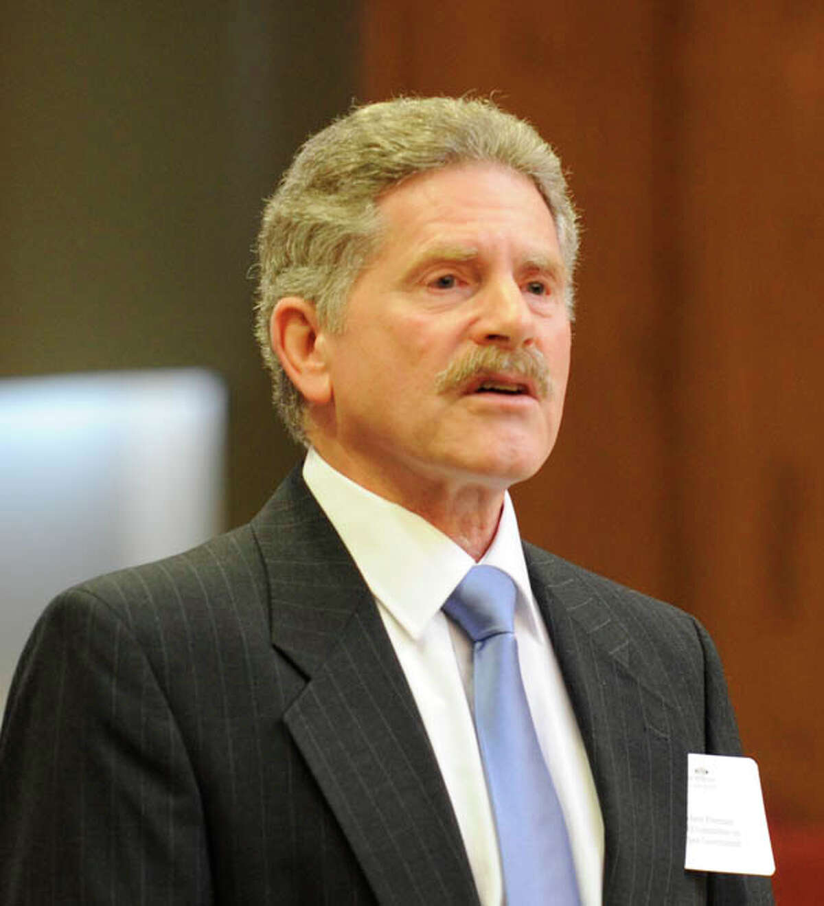 Robert Freeman.,Executive Director, Committee on Open Government speaks at the Albany Law School in Albany, New York December 4, 2009. (Skip Dickstein / Times Union)