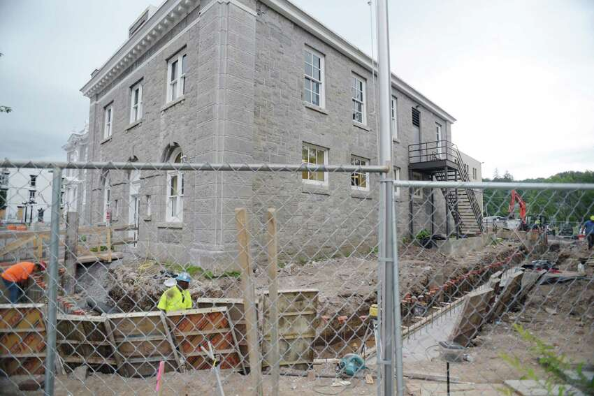 Construction work continues on the court couse and county buildings along Main Street on Thursday, Aug. 25, 2016, in Schoharie, N.Y. (Paul Buckowski / Times Union)