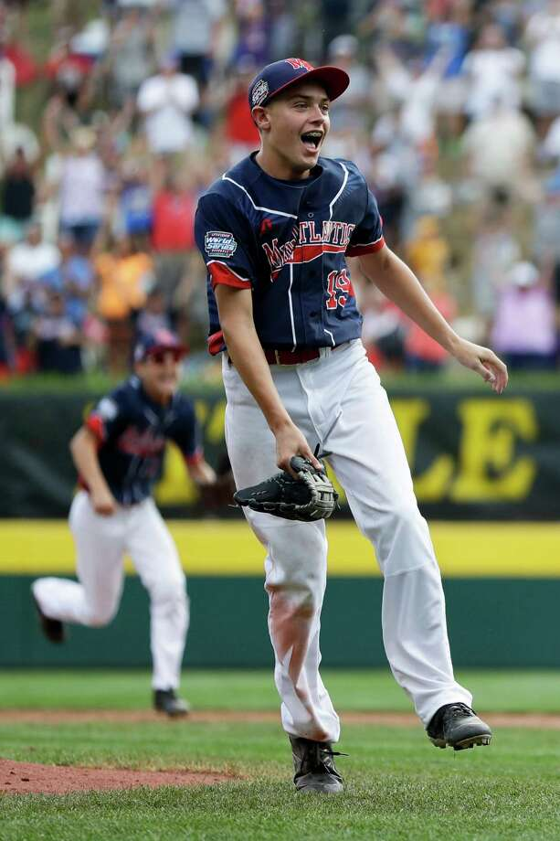 Endwell, N.Y.'s Ryan Harlost celebrates after winning the Little League World Series Championship baseball game against South Korea, Sunday, Aug. 28, 2016, in South Williamsport, Pa. (AP Photo/Matt Slocum) ORG XMIT: PAMS106 Photo: Matt Slocum / Copyright 2016 The Associated Press. All rights reserved. This m