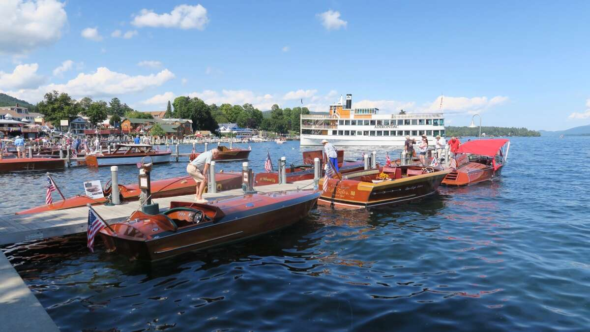 Beautiful wooden boats and sunny weather greeted visitors to the 43rd annual Lake George Rendezvous Antique and Classic Boat Show on Saturday, Aug. 27, 2016. The event featured antique, historic and classic boats from the early 20th century, as well as recent reproductions. It was sponsored by the Adirondack Chapter of the Antique and Classic Boat Society.