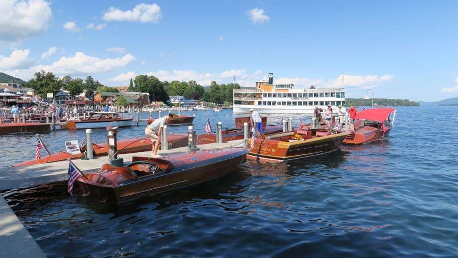 Beautiful wooden boats and sunny weather greeted visitors to the 43rd annual Lake George Rendezvous Antique and Classic Boat Show on Saturday, Aug. 27, 2016. The event featured antique, historic and classic boats from the early 20th century, as well as recent reproductions. It was sponsored by the Adirondack Chapter of the Antique and Classic Boat Society. Photo: Paul Block / Times Union