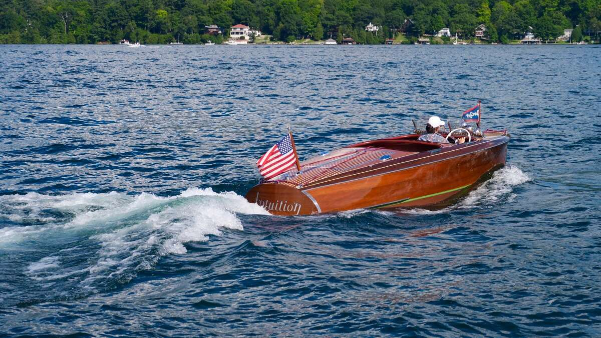 Beautiful wooden boats and sunny weather greeted visitors to the 43rd annual Lake George Rendezvous Antique and Classic Boat Show in August 2016. The event featured antique, historic and classic boats from the early 20th century, as well as recent reproductions. It was sponsored by the Adirondack Chapter of the Antique and Classic Boat Society.