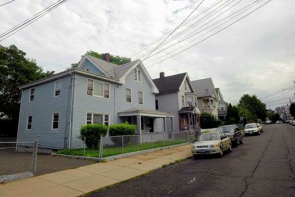The two men were shot in front of 59 Harral Avenue, in Bridgeport, Conn. early Monday morning, Aug. 29, 2016.  One of the victims was shot in the head and is in critical condition. The other man was shot in the legs and torso, condition unavailable.
