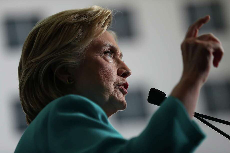 Democratic presidential candidate nominee Hillary Clinton  (Photo by Justin Sullivan/Getty Images) Photo: Justin Sullivan / 2016 Getty Images