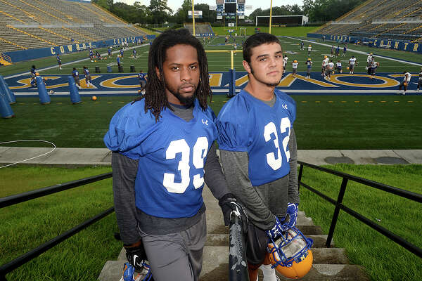 Southeast Texas raised players, including Jimmy Salter and Sage Seay, are among the contributing forces at McNeese State University in Lake Charles. Photo taken Friday, August 5, 2016 Kim Brent/The Enterprise