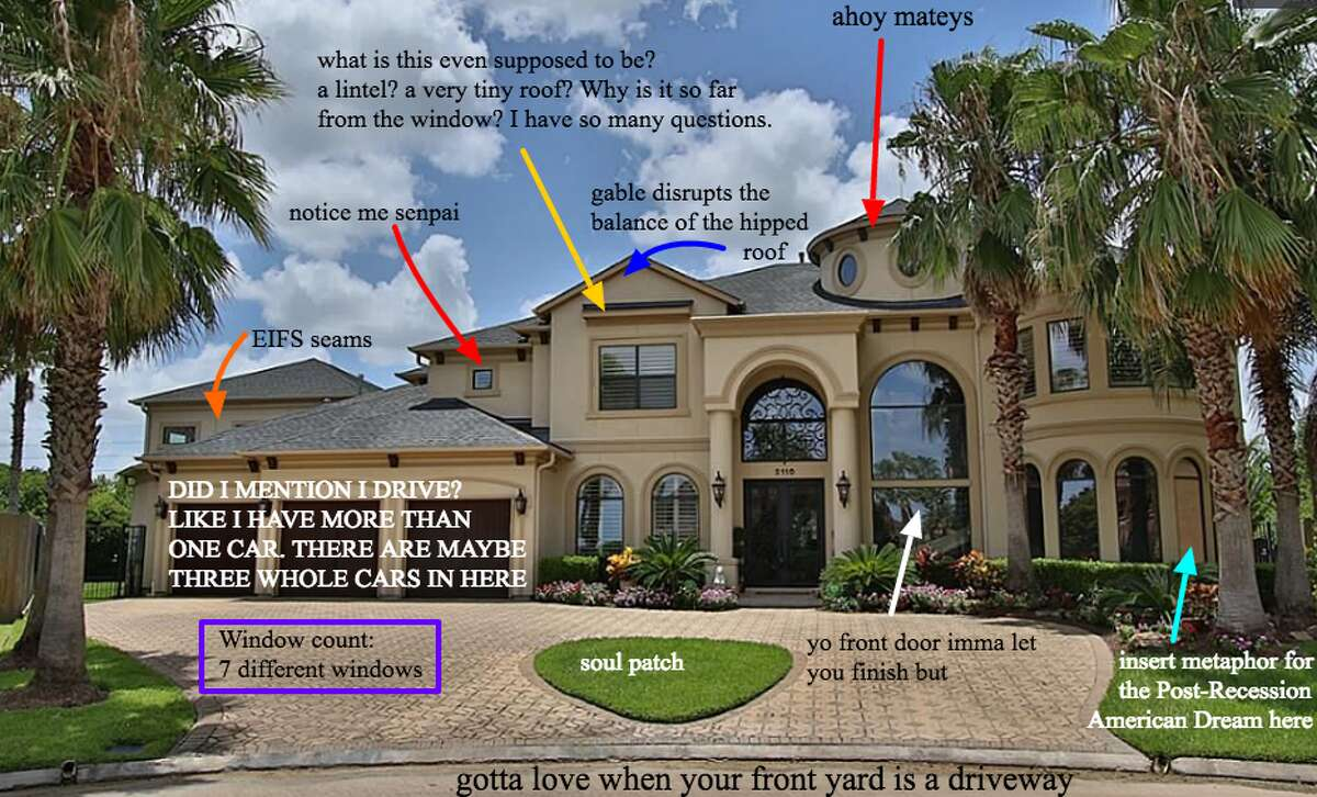 McMansionhell.com is a blog that critiques over-sized cheap homes, otherwise known as