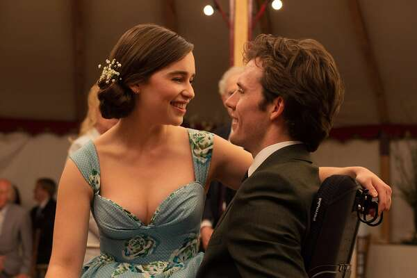 "This image released by Warner Bros. Entertainment shows Emilia Clarke, left, and Sam Claflin in a scene from ""Me Before You."" The romantic tearjerker proved again the might of the female audience, who drove the film to open higher than expected with $18.3 million. (Alex Bailey/Warner Bros. Entertainment via AP)"