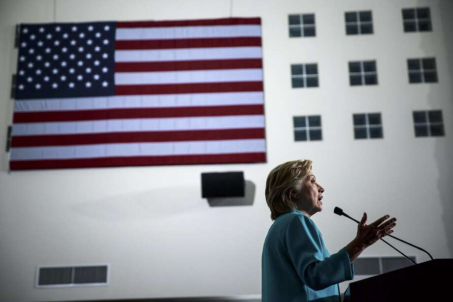 Hillary Clinton speaks during a campaign rally at Truckee Meadows Community College in Reno, Nev., Aug. 25, 2016. The candidate for president has not held a news conference since December. Photo: MAX WHITTAKER, NYT
