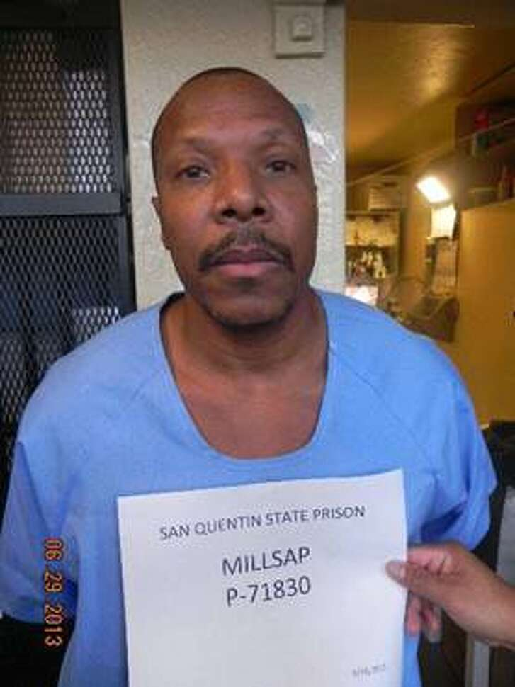 A 47-year-old assistant teacher from Los Angeles was arrested after she allegedly smuggled peach cobbler, greens, 18 cell phones and three ounces of heroin to Death Row inmate Bruce Millsap at San Quentin Prison.