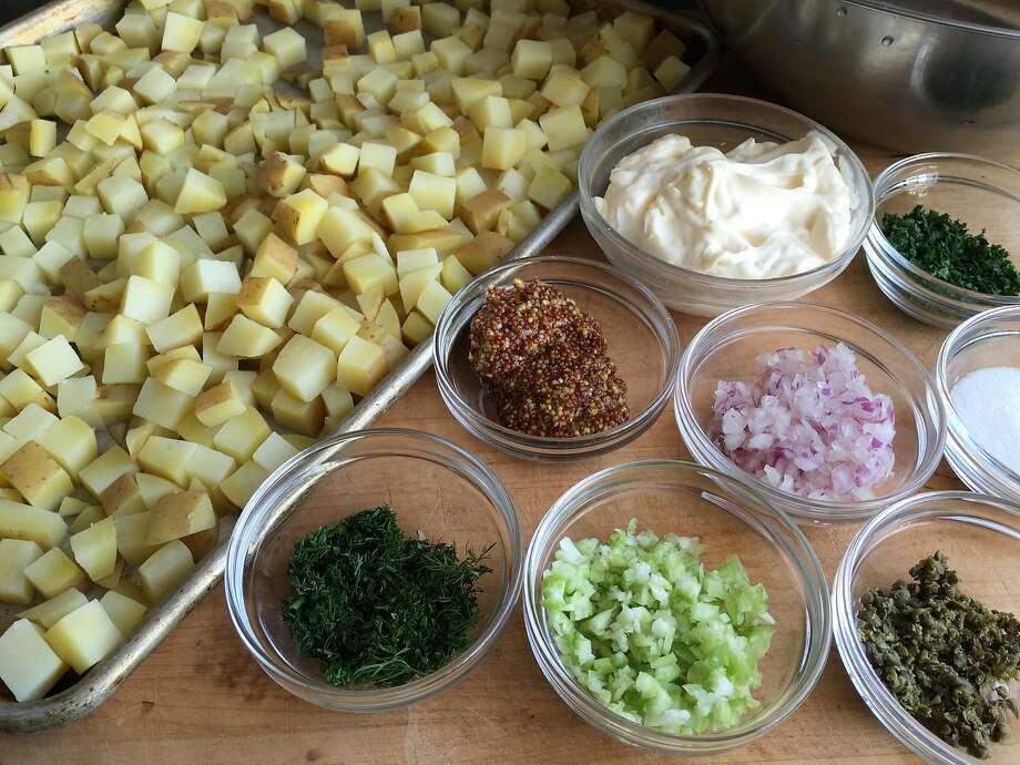 Ingredients for the creamy Wise Sons Potato Salad. Photo: Sarah Fritsche, Sarah Fritsche/The Chronicle