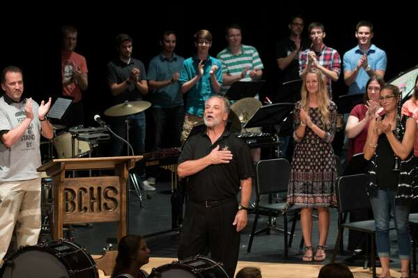 Mr. Greg Smokovitz, band director at Bullock Creek High School thanks everyone at his retirement concert on Sunday.