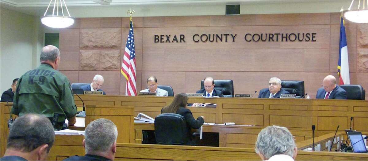 In this 2015 file photo, Precinct 3 Constable Mark Vojvodich speaks to Commissioners Court.