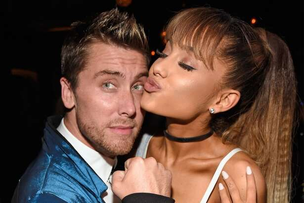 Lance Bass (L) and Ariana Grande attend the 2016 MTV Video Music Awards Republic Records After Party on August 28, 2016 in New York City.