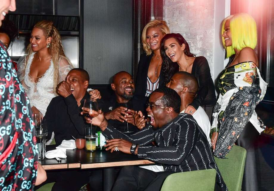 Beyonce, Jay-Z, Kanye West, Kim Kardashian, Sean 'Diddy' Combs and Cassie celebrate their 2016 MTV Video Music Awards After Party at Pasquale Jones on August 28, 2016 in New York City. Photo: James Devaney, GC Images