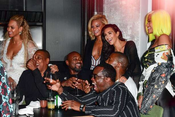 Beyonce, Jay-Z, Kanye West, Kim Kardashian, Sean 'Diddy' Combs and Cassie celebrate their 2016 MTV Video Music Awards After Party at Pasquale Jones on August 28, 2016 in New York City.