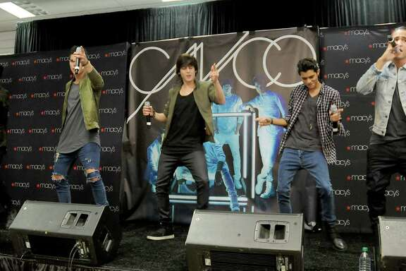CNCO performed Sunday during a special appearance at Macy's in Memorial City Mall.