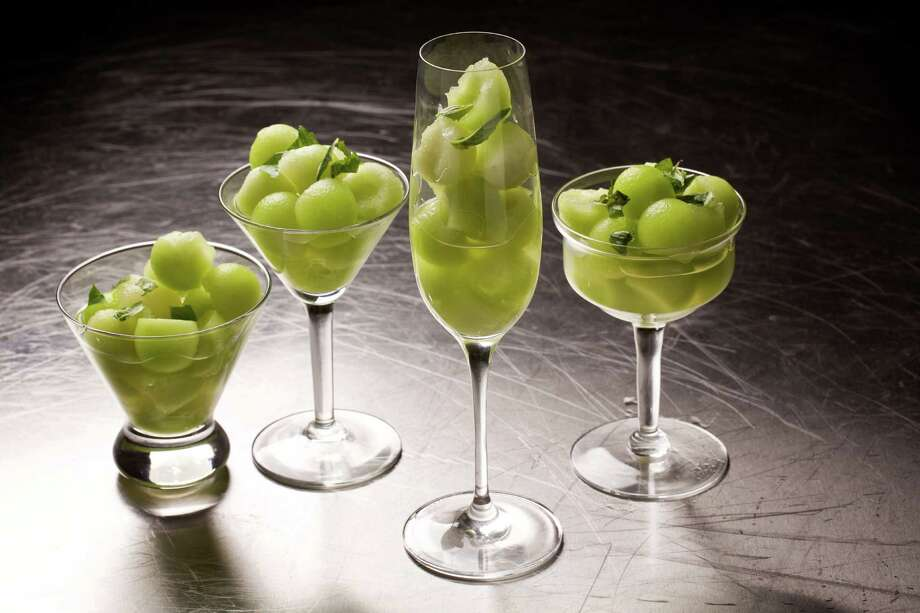 Prosecco-Spiked Melon With Basil Photo: Deb Lindsey / For The Washington Post