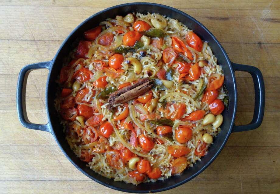 Tomato and Coconut Rice can serve as a main course or as a side. Photo: Meera Sodha, UGC / Meera Sodha