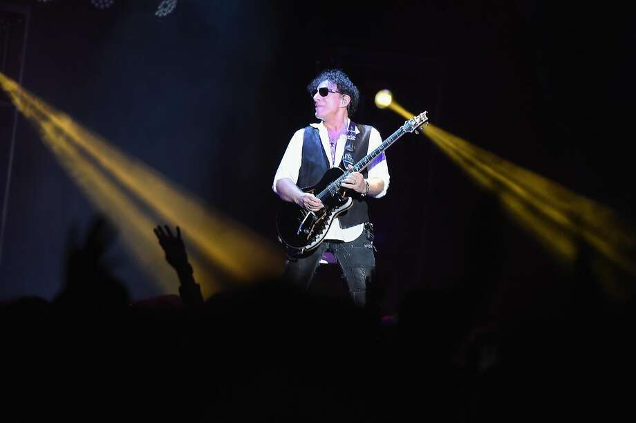 Neal Schon of Journey performs at Madison Square Garden on April 13 in New York City. Photo: Theo Wargo, Getty Images