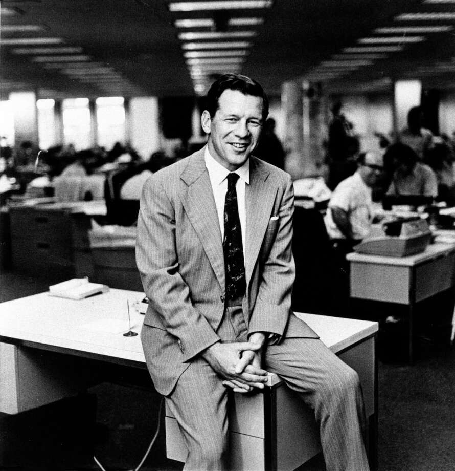 01/04/1978 - Texas Lt. Gov. Bill Hobby in the Houston Post newsroom. Hobby is also pres. of the Houston Post which his family owns. Photo: HP Staff / Houston Chronicle