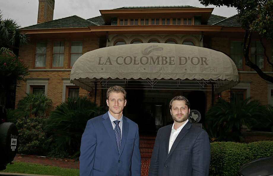 """Dan Zimmerman, left, and Mark Zimmerman are sons of Steve Zimmerman, own-er of La Colombe d'Or. """"It was very important for me to keep the Colombe d'Or brand alive because it is something special for Houston,"""" Steve Zimmerman said.  Photo: James Nielsen, Staff / © 2016  Houston Chronicle"""