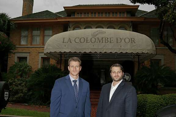 "Dan Zimmerman, left, and Mark Zimmerman are sons of Steve Zimmerman, own-er of La Colombe d'Or. ""It was very important for me to keep the Colombe d'Or brand alive because it is something special for Houston,"" Steve Zimmerman said."