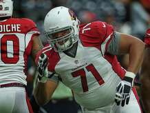 Arizona Cardinals defensive tackle Red Bryant (71) at the NFL pre-season football game at NRG Stadium on Sunday, Aug. 28, 2016, in Houston. ( Steve Gonzales  / Houston Chronicle )