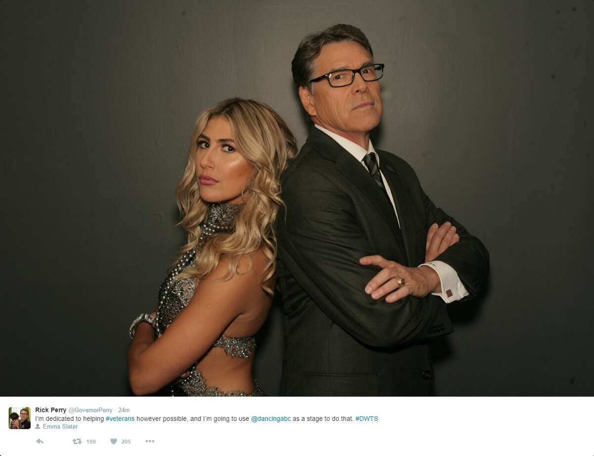 """@GovernorPerry: """"I'm dedicated to helping #veterans however possible, and I'm going to use @dancingabc as a stage to do that. #DWTS"""""""
