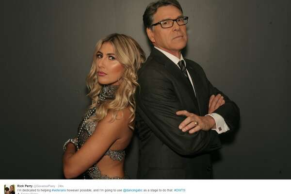 "@GovernorPerry: ""I'm dedicated to helping #veterans however possible, and I'm going to use @dancingabc as a stage to do that. #DWTS"""