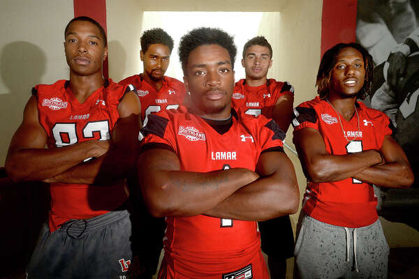 Lamar has five players contending for starting positions at wide receiver for the Lamar Cardinals this season. Photo taken Thursday, August 18, 2016 Kim Brent/The Enterprise