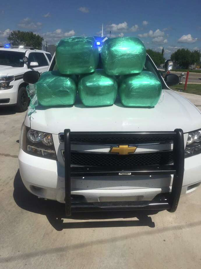 The Bexar County Sheriff's Office found more than 100 pounds of marijuana in the trunk of a car during a traffic stop on Aug. 28, 2016 on the Northeast Side. Photo: Bexar County Sheriff's Office