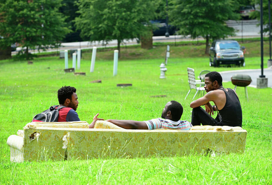 """Atlanta"" creator Donald Glover (left) plays Earn, with Brian Tyree Henry as his cousin Alfred and Keith Stanfield as their friend Darius. / Copyright 2015, FX Networks. All Rights Reserved."