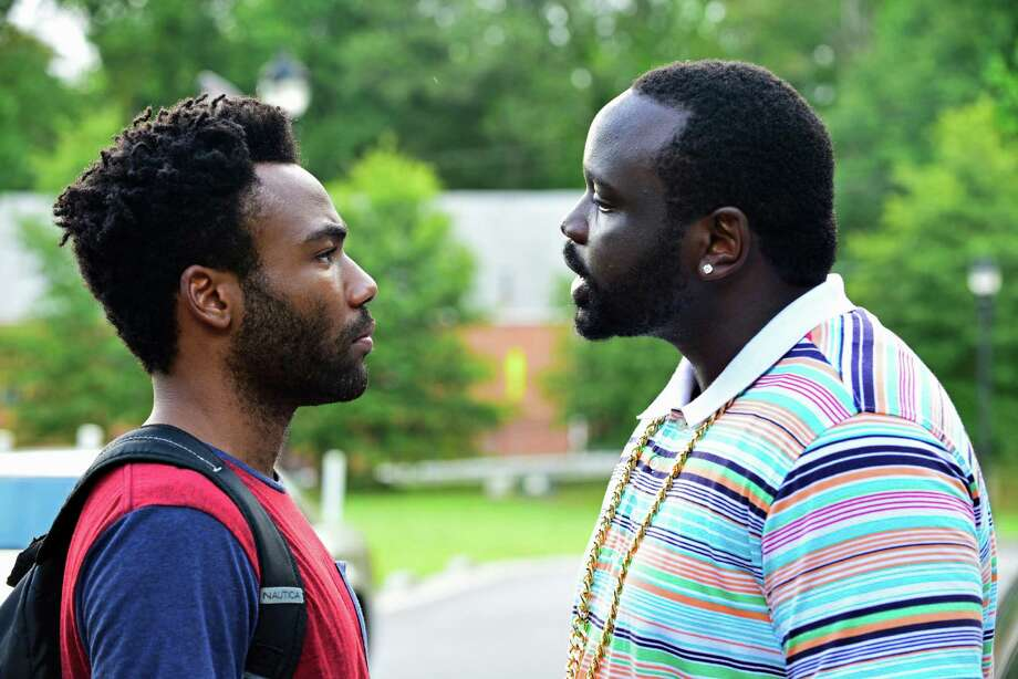 "Earn (Donald Glover, left) wants to be the manager for his rapper cousin Alfred (Brian Tyree Henry) in ""Atlanta."" / Copyright 2015, FX Networks. All Rights Reserved."