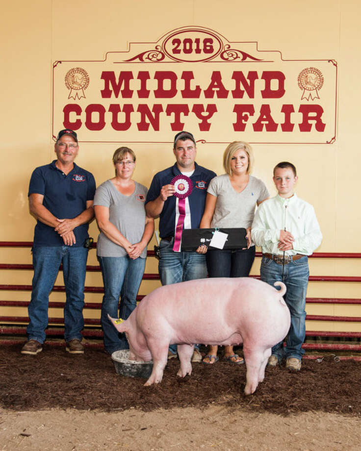 The Grand Champion Pig was raised by Andrew Johnston.