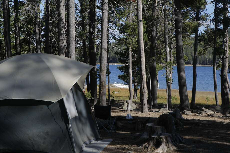 Distant Medicine Lake in Modoc National Forest is an example of a campground with space available because of the long drive required to get there. Photo: Tom Stienstra / The Chronicle