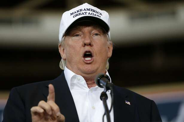 """FILE - In this Aug. 27, 2016 file photo, Republican presidential candidate Donald Trump speaks in Des Moines, Iowa. Trump promises on Twitter that he'll make a major speech on illegal immigration on Wednesday, Aug. 31, 2016, carrying his self-declared """"immigration week"""" into a second. Trump appears unable to make a decision on what his policy on his signature issue ought to be, an odd place for a candidate 10 weeks before Election Day and a dark harbinger of indecision for a potential president. (AP Photo/Gerald Herbert, File)"""