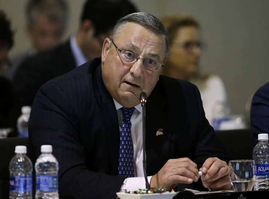 Republican Gov. Paul LePage has been criticized in recent days for an obscene voice mail he left for a Democratic legislator. Photo: Elise Amendola, Associated Press