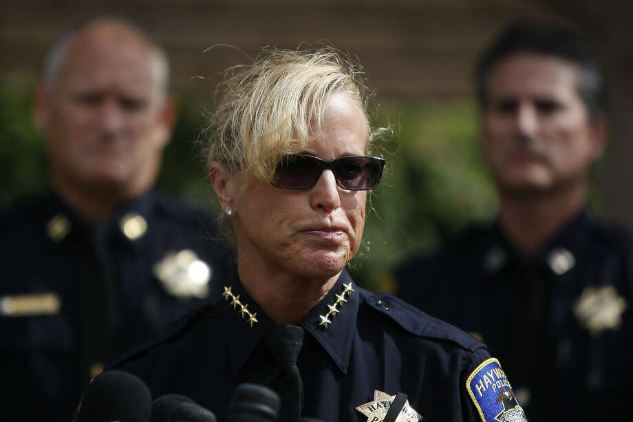 Chief Diane Urban speaks to the press during a press conference at Hayward Police Station about Sergeant Scott Lunger who was shot and killed during a traffic stop early Wednesday, July 22, 2015. Photo: Dorothy Edwards, The Chronicle