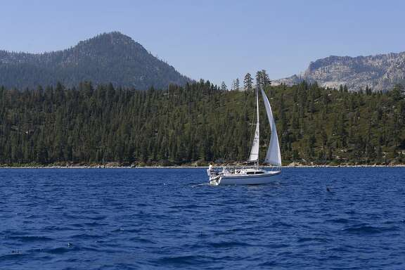 Sailing the blue waters of Lake Tahoe, California on Tuesday Aug. 30, 2016.