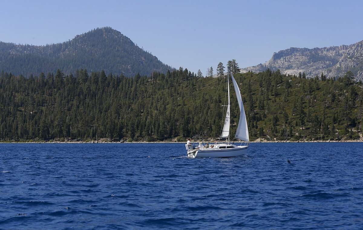 Sailing the blue waters of Lake Tahoe, California on Tuesday Aug. 30, 2016. Lake Tahoe saw a huge jump in water last year, from Dec. 9 to 11.