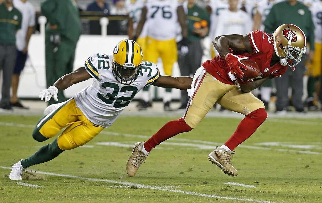 ... NFL preseason football San Francisco 49ers wide receiver Bruce Ellington d5fcd6496