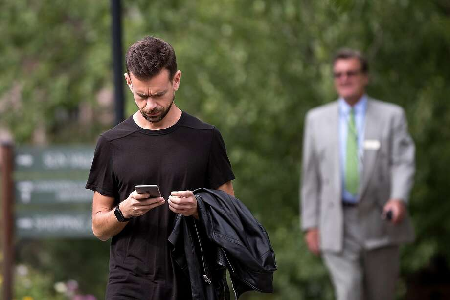 SUN VALLEY, ID - JULY 6: Jack Dorsey, co-founder and chief executive officer of Twitter, attends the annual Allen & Company Sun Valley Conference, July 6, 2016 in Sun Valley, Idaho. Every July, some of the world's most wealthy and powerful businesspeople from the media, finance, technology and political spheres converge at the Sun Valley Resort for the exclusive weeklong conference. (Photo by Drew Angerer/Getty Images) Photo: Drew Angerer, Getty Images