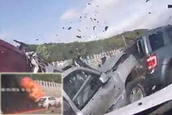 Crazy crash in NY