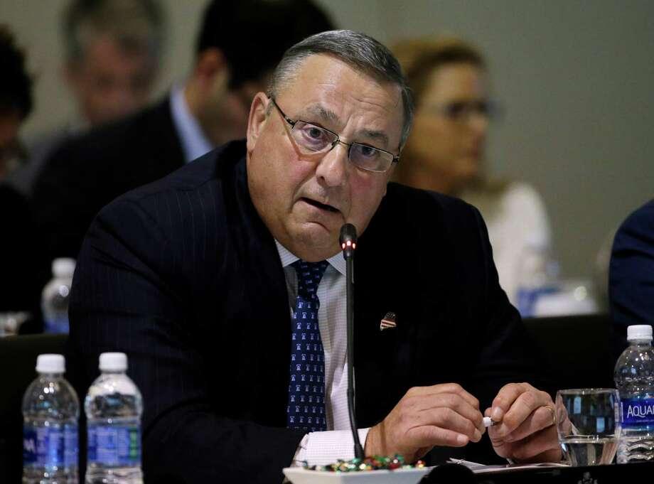 Maine Gov. Paul LePage says he wants to make amends with the legislator he left an angry obscene voice mail. His political future remains unclear. Photo: Elise Amendola, STF / AP