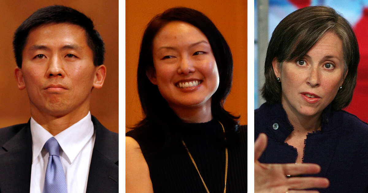 Goodwin Liu, Jane Kim, and Ann O'Leary.